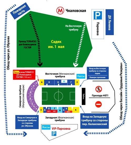 """Схема подхода к стадиону """""""